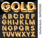 shining vector golden alphabet... | Shutterstock .eps vector #364962083