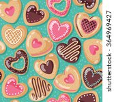 valentine day cute and yummy... | Shutterstock .eps vector #364969427