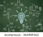 business concept  light bulb on ... | Shutterstock . vector #364989263