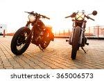 two vintage custom motorbike... | Shutterstock . vector #365006573