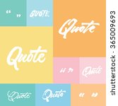quote lettering typography set | Shutterstock .eps vector #365009693