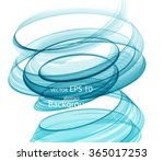 abstract colored spiral | Shutterstock .eps vector #365017253