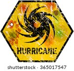 hurricane warning sign  heavy... | Shutterstock .eps vector #365017547