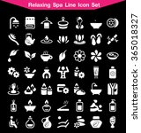 spa icon set | Shutterstock .eps vector #365018327