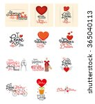 a set of different messages... | Shutterstock .eps vector #365040113