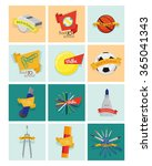 a set of different school... | Shutterstock .eps vector #365041343