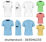 men's short sleeve t shirt ... | Shutterstock .eps vector #365046233