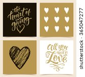 vector collection of four cards ... | Shutterstock .eps vector #365047277