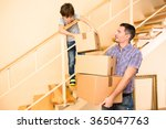 family moving into a new house | Shutterstock . vector #365047763