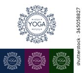 vector yoga illustration... | Shutterstock .eps vector #365058827