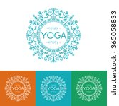 vector yoga illustration... | Shutterstock .eps vector #365058833