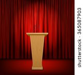 stage with red curtain | Shutterstock .eps vector #365087903