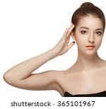 beautiful woman portrait face... | Shutterstock . vector #365101967