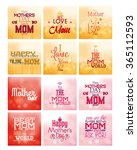set of colored backgrounds with ... | Shutterstock .eps vector #365112593