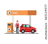 gas station. energy. fuel... | Shutterstock .eps vector #365119577