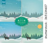 winter background. new year and ... | Shutterstock .eps vector #365134607