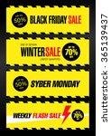 sale banners set template design | Shutterstock .eps vector #365139437