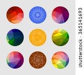 set of geometric shapes.... | Shutterstock .eps vector #365141693