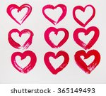 set of hearts of red color. st. ... | Shutterstock . vector #365149493