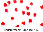 red jelly hearts on a white... | Shutterstock . vector #365151743