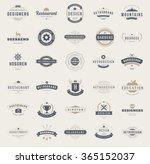 vintage logos design templates... | Shutterstock .eps vector #365152037
