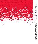 valentine's hearts background | Shutterstock .eps vector #365157143