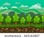 vector cartoon forest seamless...