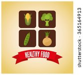 healthy food design  | Shutterstock .eps vector #365164913
