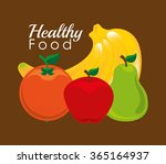 healthy food design  | Shutterstock .eps vector #365164937