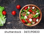 tomato salad with lettuce ... | Shutterstock . vector #365190833