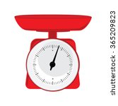vector illustration red weight... | Shutterstock .eps vector #365209823