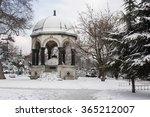 German Fountain In Snowy Winte...