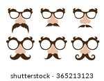 set of a fake noses  and ... | Shutterstock .eps vector #365213123