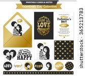 printable set with couple in...   Shutterstock .eps vector #365213783