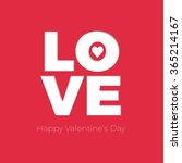 vector happy valentine's day... | Shutterstock .eps vector #365214167