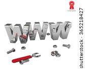 internet repair  wrench  www ... | Shutterstock .eps vector #365218427