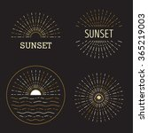 set of vector sunset hipster... | Shutterstock .eps vector #365219003