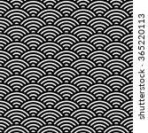 japanese fan pattern  vector... | Shutterstock .eps vector #365220113