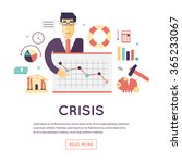 crisis economic  falling graph... | Shutterstock .eps vector #365233067