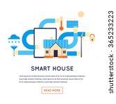 smart house  ecological house.... | Shutterstock .eps vector #365233223