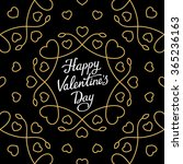 hand lettering 'happy valentine'... | Shutterstock .eps vector #365236163