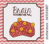 human brain design  | Shutterstock .eps vector #365241887
