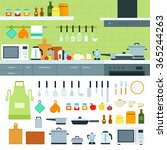 cooking tools vector flat... | Shutterstock .eps vector #365244263