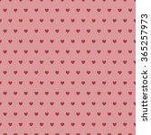 abstract heart seamless pattern. | Shutterstock .eps vector #365257973