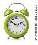 green alarm clock | Shutterstock . vector #365261117