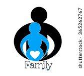 happy family. pregnancy logo... | Shutterstock .eps vector #365262767