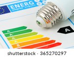 Small photo of Energy efficiency concept with energy rating chart