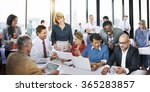 business people office working... | Shutterstock . vector #365283857