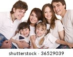 happy parents hold the children ... | Shutterstock . vector #36529039
