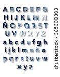 cloud alphabet | Shutterstock . vector #365300303